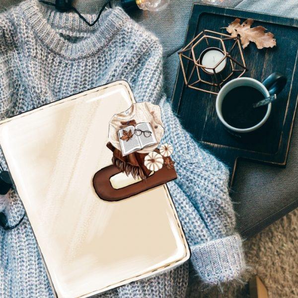 Fall Fashion Die Cut Sweater