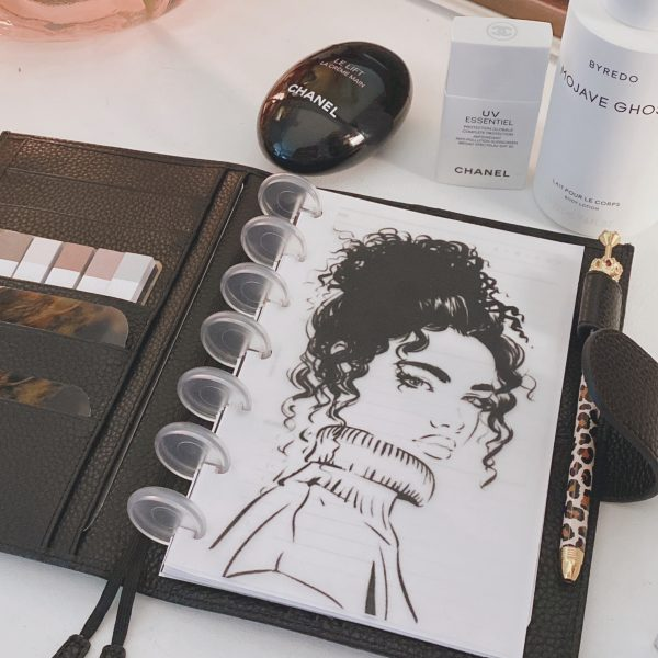 Turtleneck Curly Hair Planner cover